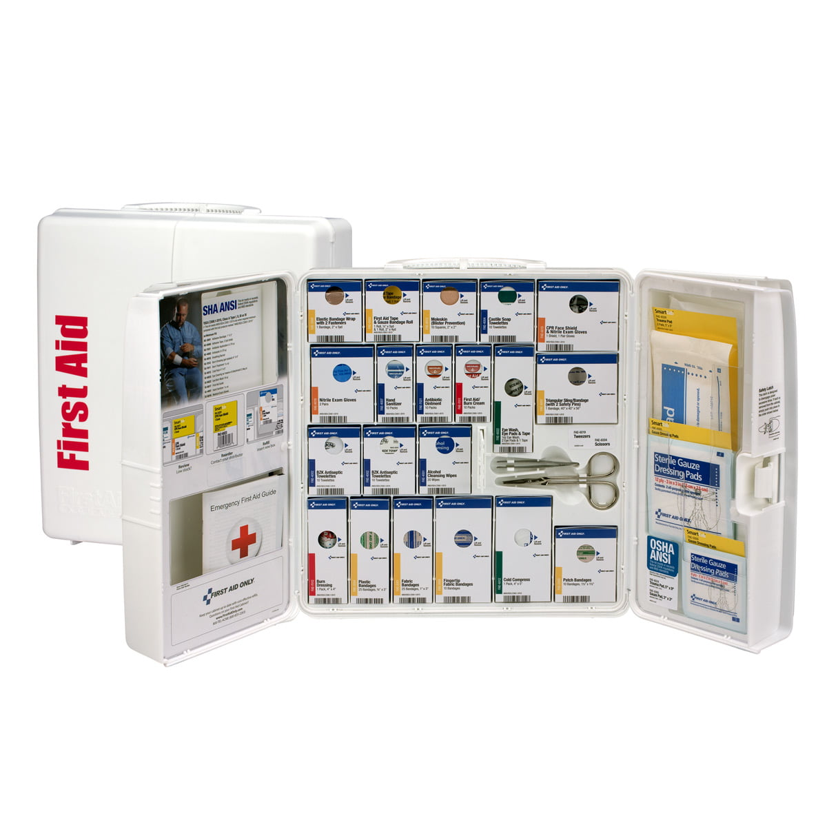 Large Plastic Smartcompliance First Aid Cabinet Without