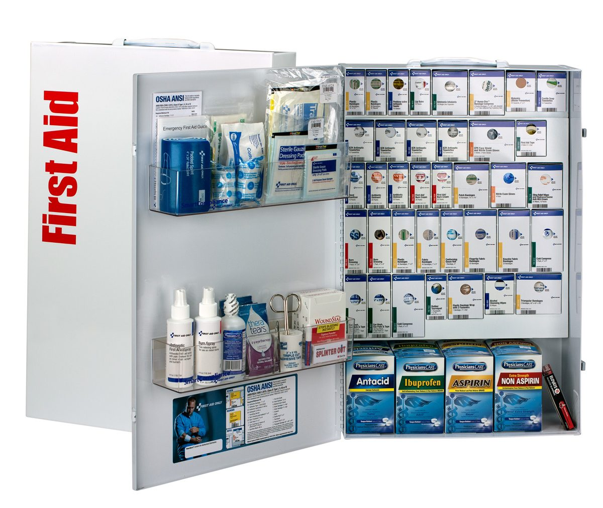 smartcompliance xxl business first aid cabinet with medication