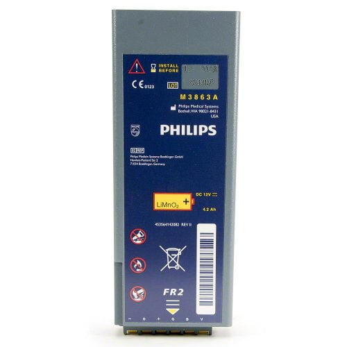philips heartstart fr2 and frx aed battery