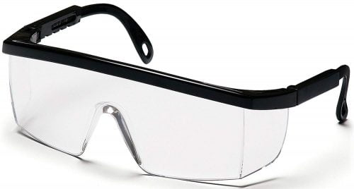Pyramex Integra Safety Eyewear, Clear Anti-Fog Lens With Black Frame