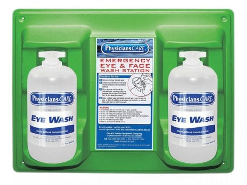 double eye wash station 32oz