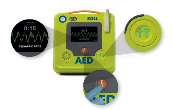 zoll aed 3 bls integrated pediatric pads