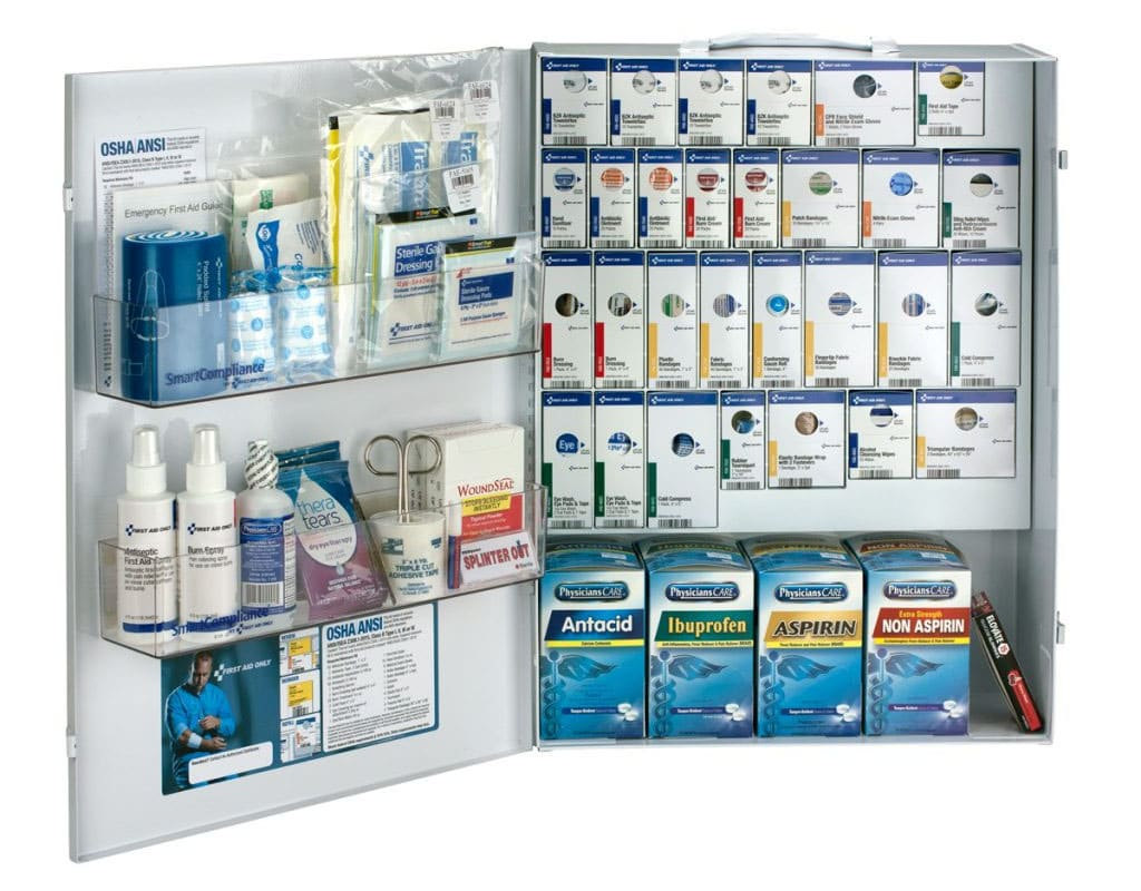 smartcompliance 90732 first-aid cabinet refill items
