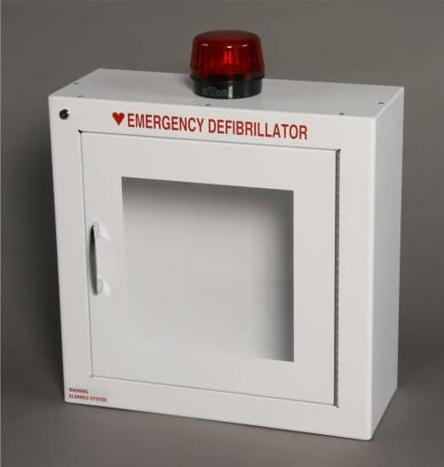 AED Surface Mount Cabinet with Alarm and Strobe Light