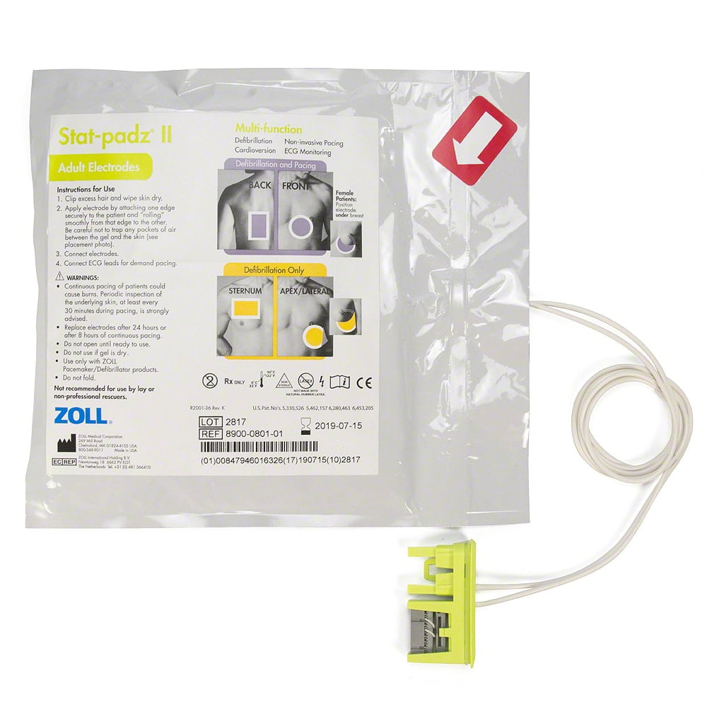 zoll stat-padz ii aed electrode pads 8900-0801-01-large